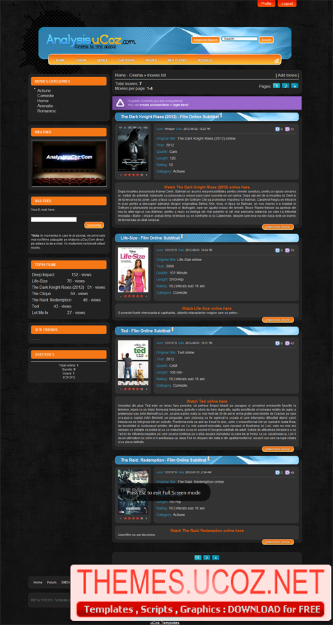 Big-movie for ucoz free ucoz scripts | templates free at.