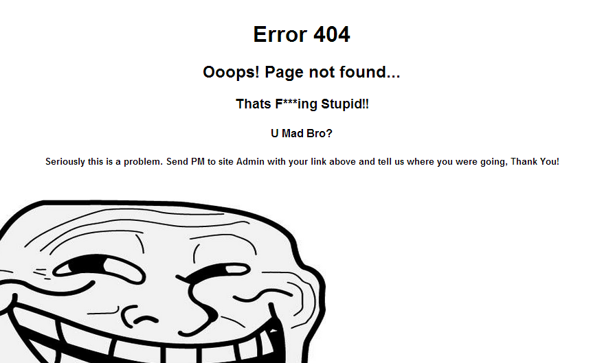 Troll 404 Page - 404 Error Pages - uCoz Scripts - Themes uCoz Net
